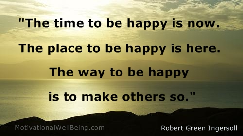 the time to be happy is now motivationalwellbeing